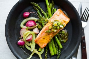 Salmon and Spring Vegetables