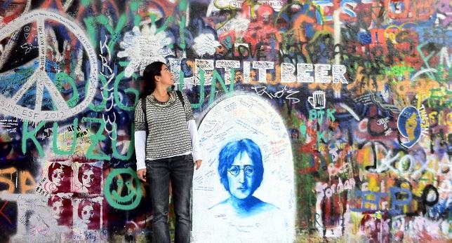 Η Σοφία Βερνίκου κατά τη διάρκεια ταξιδιού στη Βουδαπέστη