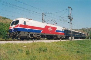 train greece