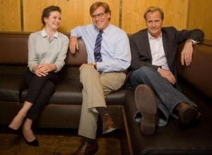 Aaron-Sorkin-and-The-Newsroom-cast-460x337