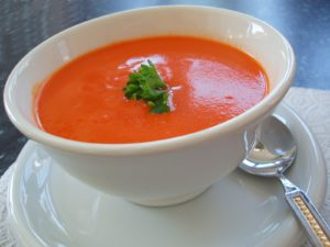 red peper soup