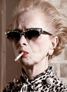older woman attitude cigarette
