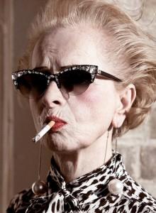 older woman attitude cigarette