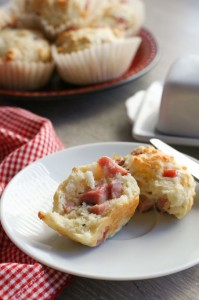 salted chees ham muffins