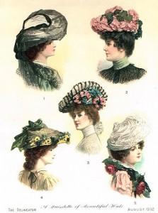 Γυναικεία καπέλα του 19ου αιώνα