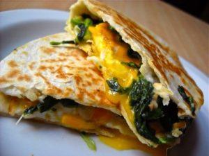 Eggs Florentine Quesadilla 1