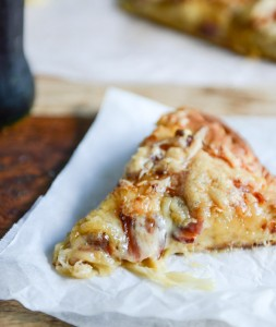 pizza- caramelized onions