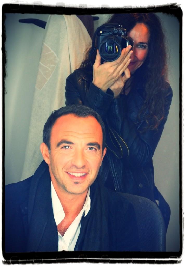 Με τον καλό της φίλο, Νίκο Αλιάγα στο Παρίσι.