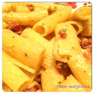 rigatoni gorgotzola bacon
