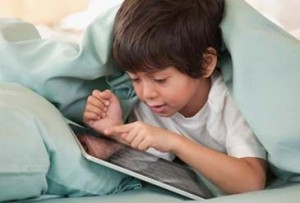 child boy ipad