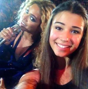 Ένα από τα πολλά selfies της Beyonce