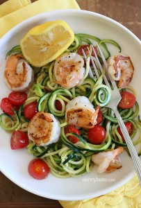 Zoodles with Spicy Shrimp