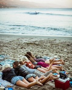 friends on the beach