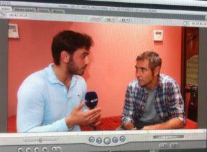 Στιγμιότυπο από τη συνέντευξη του με τον Θοδωρή Αθερίδη