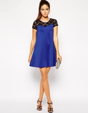 Club L Scuba Swing Dress with Lace Insert, Asos, 10ευρώ
