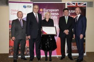 British Ambassador Mr John Kittmer, Άθως Στυλιανού (Διευθύνων Σύμβουλος RSM Greece),Δρ Μαρίνα Λύδα Κουταρέλλη, Θεόδωρος Φέσσας (Πρόεδρος ΣΕΒ),Adrian Tripp (CEO European Business Awards