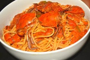 crab pasta