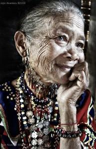 old beautiful  woman