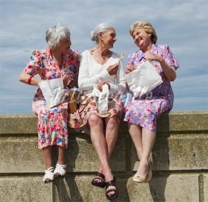 old happy girlfriends