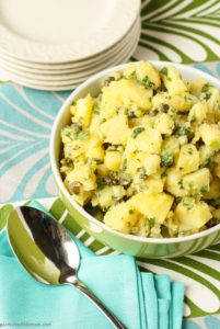 potatoes  salad mustard capers