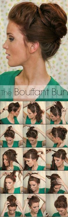Bouffant bun for sets _3 & _4 - New Year