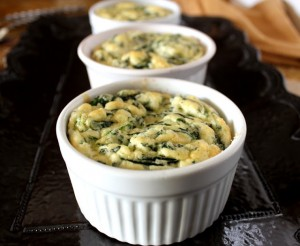 spinach soufflet -mini