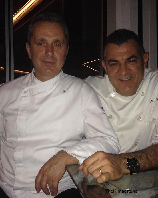 Ο chef Βασίλης Μήλιος  και o chef Jerome Serres