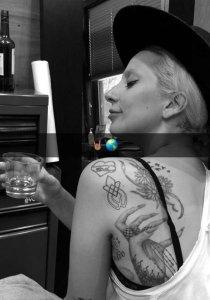 Lady Gaga's unity tattoo 1