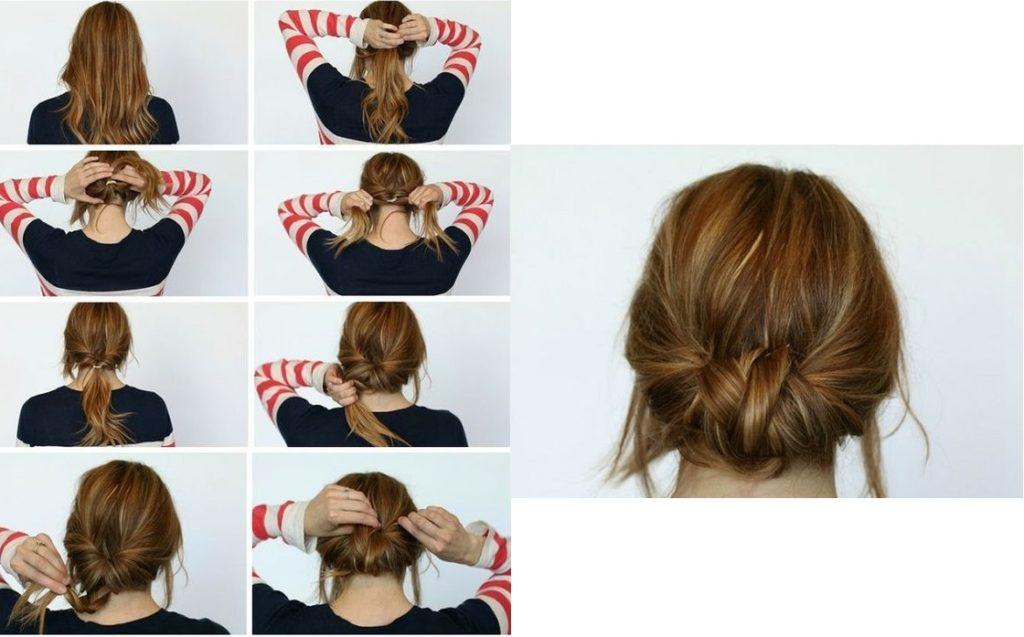 Low braided bun 2222222