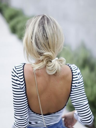 Half bun half ponytail