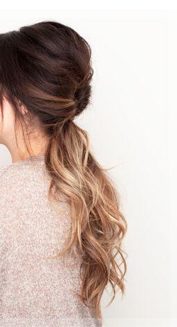 Low ponytail with twist