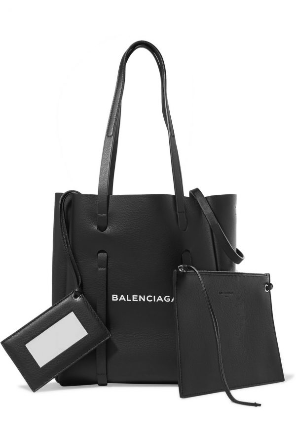 5a53a5a0a0 BALENCIAGA XS Printed Textured-Leather Tote