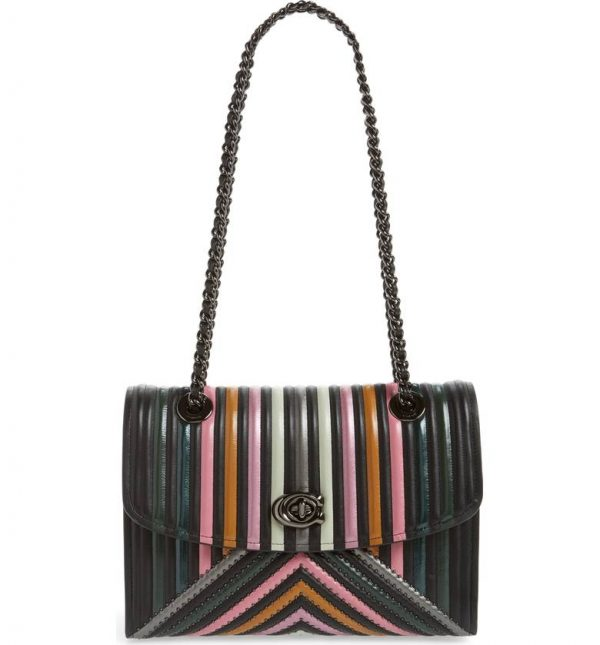 0ea9a78ec4 Coach Parker Leather Striped Bag