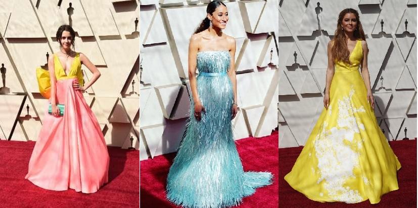 a40faa9c135 Η Αμερικανίδα δημοσιογράφος της Vogue Elaine Welteroth, φόρεσε ένα λαμπερό  στράπλες φόρεμα, σε απόχρωση του γαλάζιου. Η νεαρή ηθοποιός, Laura Marano,  ...